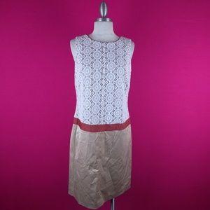 @ Anne Klein sz 4 Drop Waist Cream Lace Dress